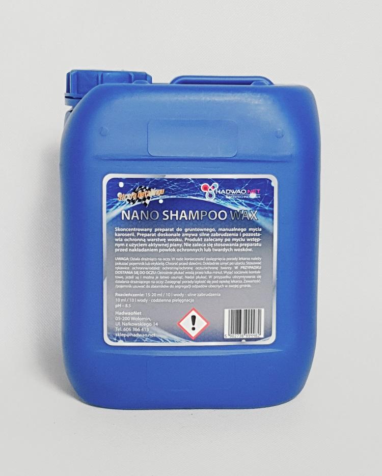 nano shampoo wax hadwao 5l, szampon z woskiem