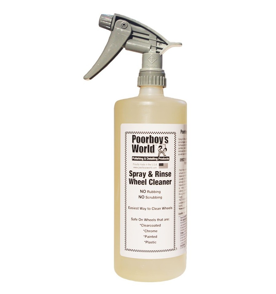 Poorboy's World kwasowy płyn do mycia felg Spray&Rinse Wheel Cleaner 946ml
