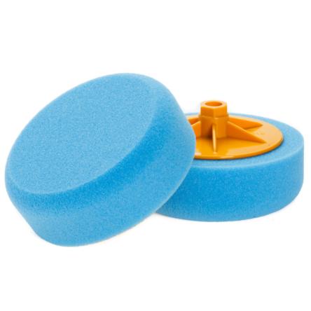 NAT gąbka polerska na gwint M14 płaska niebieska twarda 150mm x 50mm